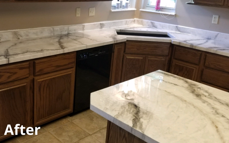 after concrete countertop treatment